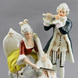 """Статуэтка """"Пара барокко. Музыканты"""" Флейта и виолончель, арт. 4746"""
