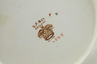 "Антикварная тарелка ""Цветы"" 22,5см. , арт. 4821"