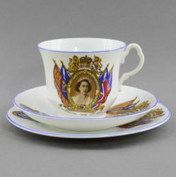 "Чайная пара трио ""Коронация Елизаветы II"", арт. 4824"