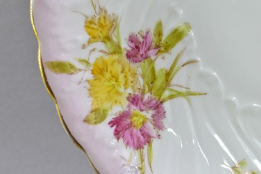 """Антикварная тарелка """"Цветы"""" розовая 22,5см. , арт. 4825"""