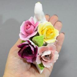"""Статуэтка """"Лебедь. Фарфоровые цветы"""", арт. 4841"""