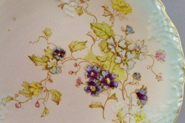 "Антикварная тарелка ""Цветы"" 22см. , арт. 4843"