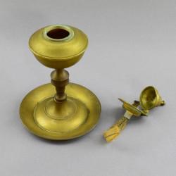 Масляная лампа на ножке с гасителем, арт. 4853