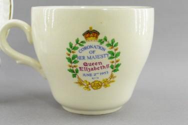 """Чайная пара """"Коронация Елизаветы II"""", арт. 4860"""