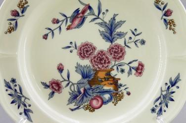 """Тарелка """"Цветы и фрукты"""" 21см цветная, арт. 4861"""
