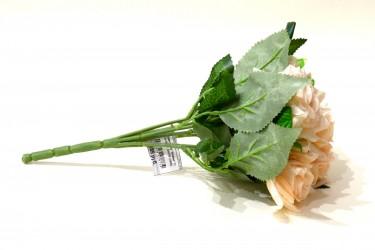 """Цветок искусственный букет роза """"Аливи"""" кремовый. 30см, арт. 4906"""