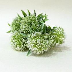 """Цветок искусственный куст зелень """"Дикий лук"""" белый 32см, арт. 4910"""