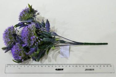 """Цветок искусственный куст зелень """"Дикий лук"""" сиреневый 32см, арт. 4910"""