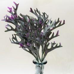 """Цветок искусственный куст зелень """"Оленьи рожки"""" сиреневый 36см, арт. 4914"""