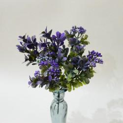 """Цветок искусственный куст зелень карисс """"Дори"""" сиреневая 30см, арт. 5418"""