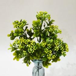 """Цветок искусственный куст зелень карисс """"Дори"""" желтая 30см, арт. 5418"""