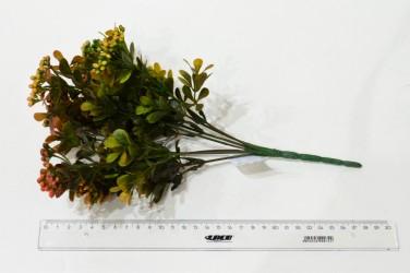 """Цветок искусственный куст зелень карисс """"Дори"""" оранжевая 30см, арт. 5418"""