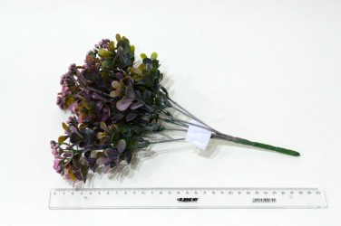 """Цветок искусственный куст зелень карисс """"Дори"""" розовая 30см, арт. 5418"""