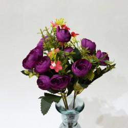 "Цветок искусственный букет ""Камелия лимра"" фуксия 31см, арт. 4919"