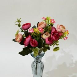 """Цветок искусственный букет """"Камелия лимра"""" розовый 31см, арт. 4919"""