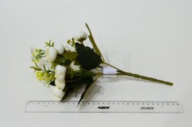 """Цветок искусственный букет """"Камелия лимра"""" белый 31см, арт. 4919"""