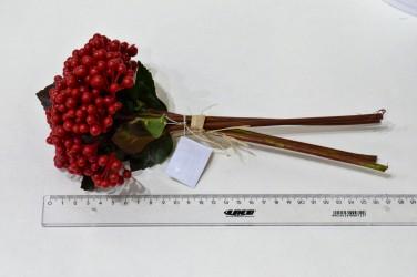 Цветок искусственный срез калина 28см, арт. 4927