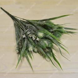 Цветок искусственный куст чертополох 44см, арт. 4953