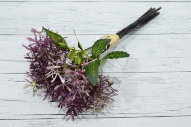 Цветок искусственный срез чертополох фиолет. 7 вет. 34 см, арт. 4955