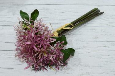 Цветок искусственный срез чертополох сирень. 7 вет. 34 см, арт. 4955
