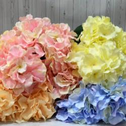 """Цветок искусственный букет """"Гортензия"""" цвет фуксия 50см, арт. 5422"""