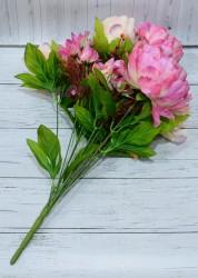 Цветок искусственный букет пион роз. h=50см. , арт. 5009