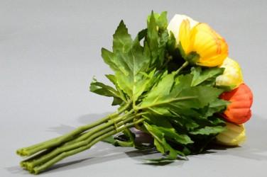 """Цветок искусственный букет камелия """"Офелия"""" 22см, арт. 5012"""