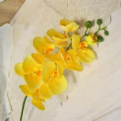 Цветок искусственный ветка орхидея желтая 100см, арт. 5018