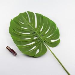 Цветок искусственный одиночный лист монстеры h=70см, арт. 5052