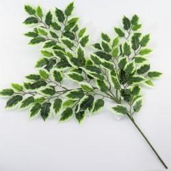 Цветок искусственный  ветка фикус бенджамин светлый h=65см, арт. 5054