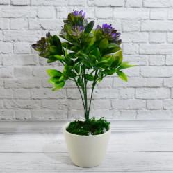 Цветок искусственный куст барбарис сиреневый h=34см, арт. 5070