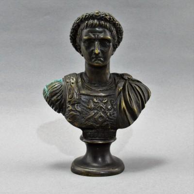 """Антикварный бюст """"Тиберий"""" бронза, арт. 5141"""