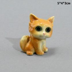 """Фигура миниатюра """"Кошка с большими глазами желтая"""" , арт. 5230"""