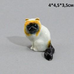 """Фигура миниатюра """"Кошка персидская сидячая цвет."""", арт. 5231"""