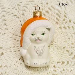 """Елочная игрушка """"Котик в шапке"""" желтый арт.5885 ID4244"""