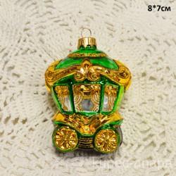 """Елочная игрушка """"Карета"""" зеленая, арт. 5260 ID4205"""