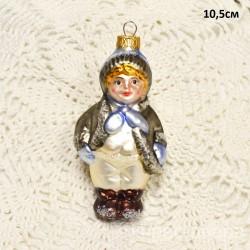 """Елочная игрушка """"Мальчик в шапке"""", арт. 5260 ID3865"""