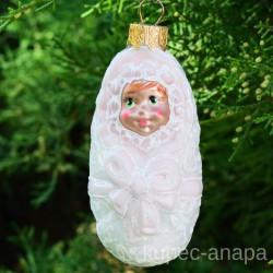 """Елочная игрушка """"Ребенок. Лялька """" девочка арт. 5261 ID4261"""