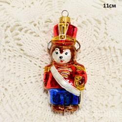 """Елочная игрушка """"Медведь солдат с мечем"""" красный арт. 5261 ID4248"""