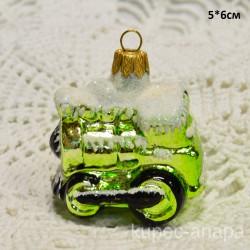 """Елочная игрушка """"Паровозик"""" зеленый, арт. 5262 ID4182"""