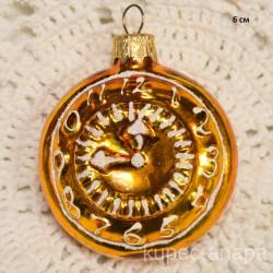 """Елочная игрушка """"Часы"""" арт. 5262 ID4282"""