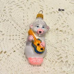 """Елочная игрушка """"Мышонок с гитарой"""" арт. 5307 ID4245"""