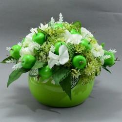 """Цветочная интерьерная композиция """"В зеленом цвете. Яблоки"""", арт. 5325"""