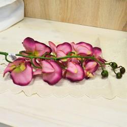 Цветок искусственный ветка орхидея латекс, темн. розовая 101см, арт. 5415