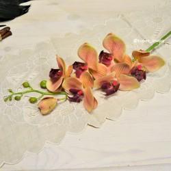 Цветок искусственный ветка орхидея латекс, кремовая 87см, арт. 5416