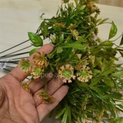 Цветок искусственный куст зелени h=48см. оранжевый, арт. 5424