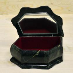 Ларец - шкатулка ЯЩЕРКА змеевик, арт. 5506