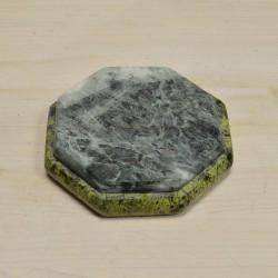 Пепельница восьмигранная из змеевика, арт. 5513