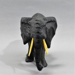 """Статуэтка """"Слон резной хобот вниз"""" черный, арт. 5559"""
