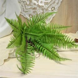 Цветок искусственный куст папоротник зеленый h=65см, арт. 5644